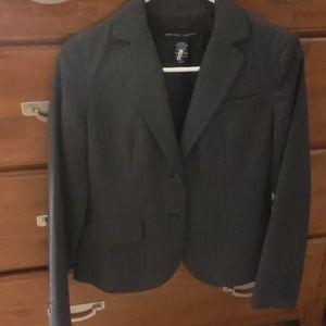 New York & Company Grey Pinstripe Blazer *EUC*